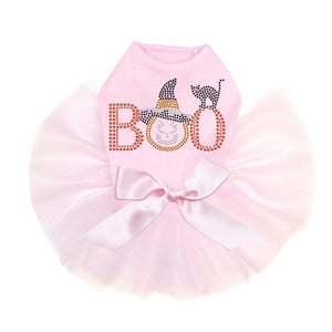 Boo Cat and Hat Tutu Dress - Pink