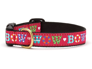 Bow Wow Holiday Dog Collar