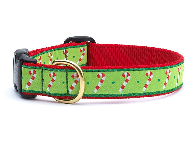 Stripe Candy Cane Dog Collar