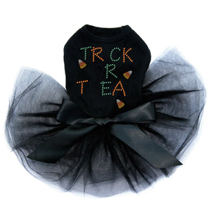 Trick or Treat with Candy Corn - Tutu - Black, Pink or Red