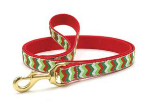 Christmas Chevron Dog Leash