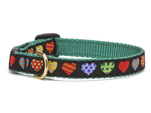 Colorful Hearts Dog Collar