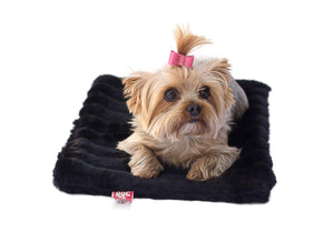 Black Mink All Plush Crate Liner
