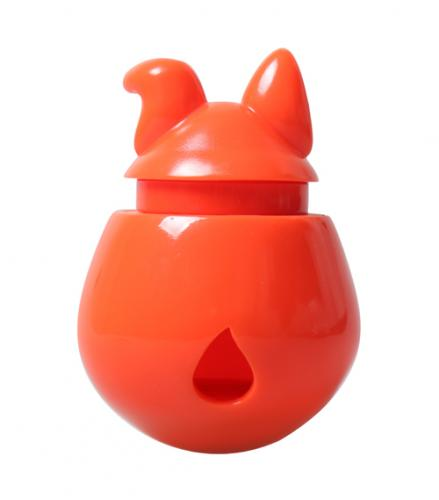 Interactive Dog Treat Dispenser / Toy - Orange Tangerine