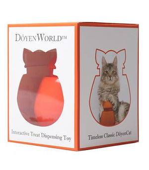 Interactive Cat Treat Dispenser / Toy - Orange Tangerine