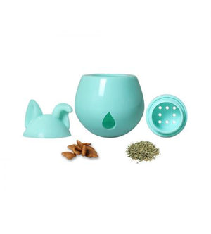 Interactive Dog Treat Dispenser / Toy - Blue Tealberry
