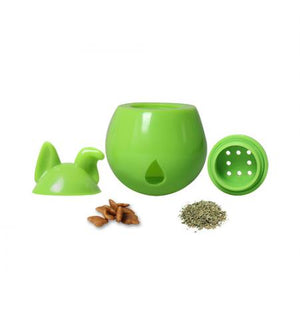 Interactive Dog Treat Dispenser / Toy - Green Lime