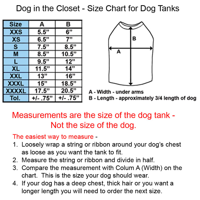 Dog Tank - Many Colors available