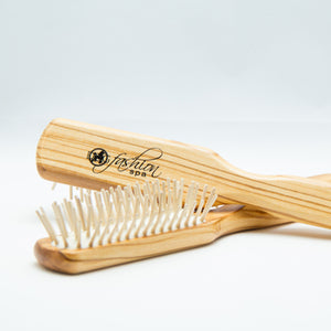 100% Static-Free Sustainable Olive Wood Hair Brush for Dogs