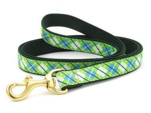 Blue And Green Argyle Dog Leash