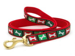 Christmas Bones Dog Leash