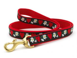 Hearts And Flowers Dog Leash