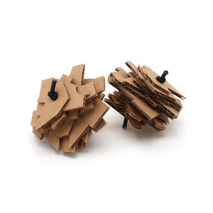 Set of Two Eco Stacks Cardboard Cat Toys