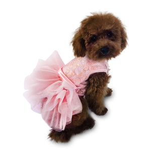 Rose Gold Irredescent Lace Fufu Tutu