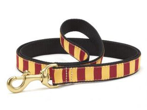 Garnet Gold Stripe Dog Leash