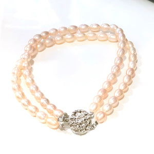 Genuine Fresh Water Pearl Necklace for Dogs - Pink 10 Inch