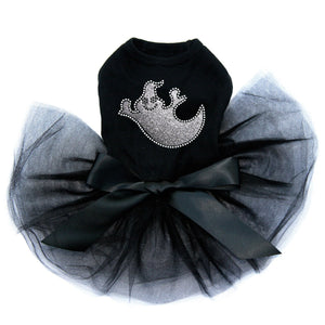Silver Glitter Ghost - Tutu - Black, Pink or Red