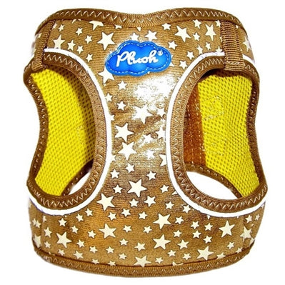 Gold Plush Step In Vest Glitter Glow Harness