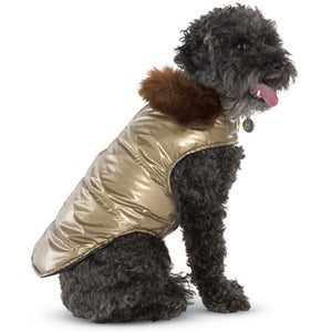 Aspen Gold Puffer Dog Coat