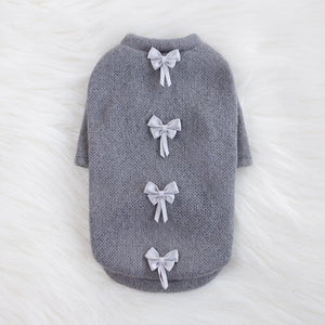 Gray Dainty Dog Sweater