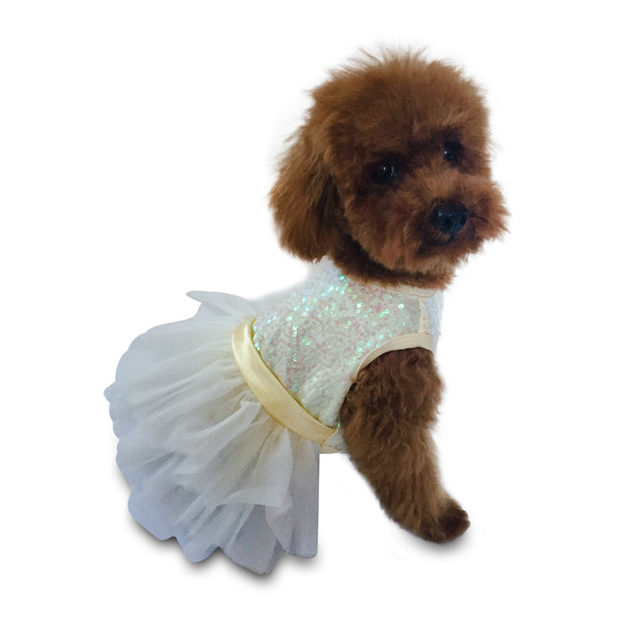 Ivory Hollywood Hologram Sequin Fufu Tutu