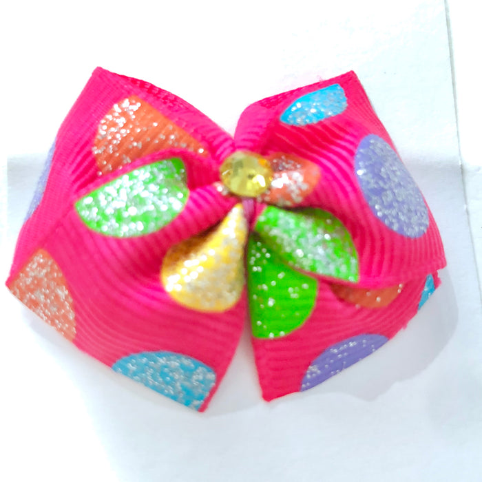 Polka Dot Dog Hair Bow