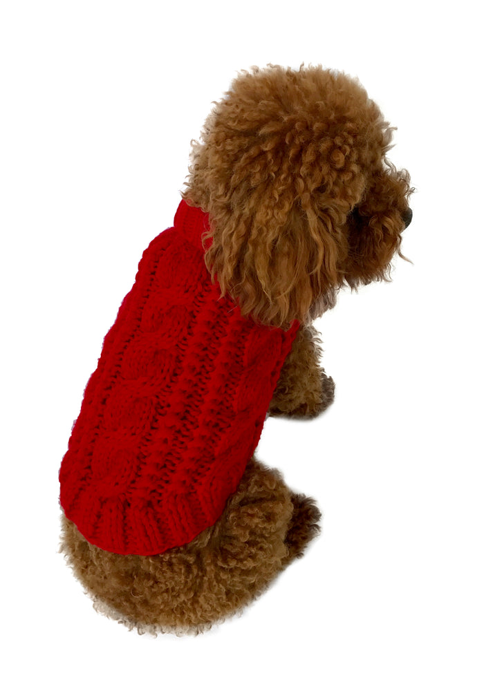 Irish Knit Sweater Red