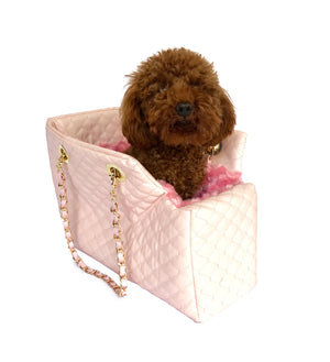 Kate Carrier in Quilted Pink with Chain Straps