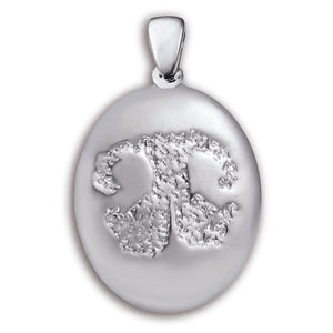 Sterling Silver Grand Paw Print Charm