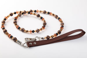 Coffee Animal Print Leash