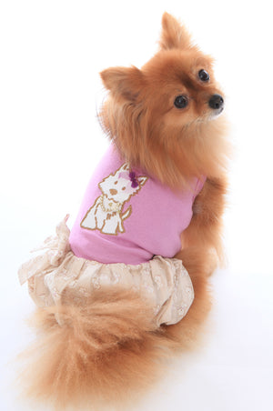 Hugs and Kisses Puppy Bubble Dog Dress