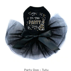 New Year Party Dog Tutu Black