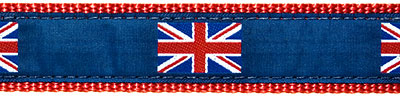 British Flag on Blue Ribbon Dog Leash