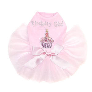Birthday Girl Cupcake Pink Dog Tutu