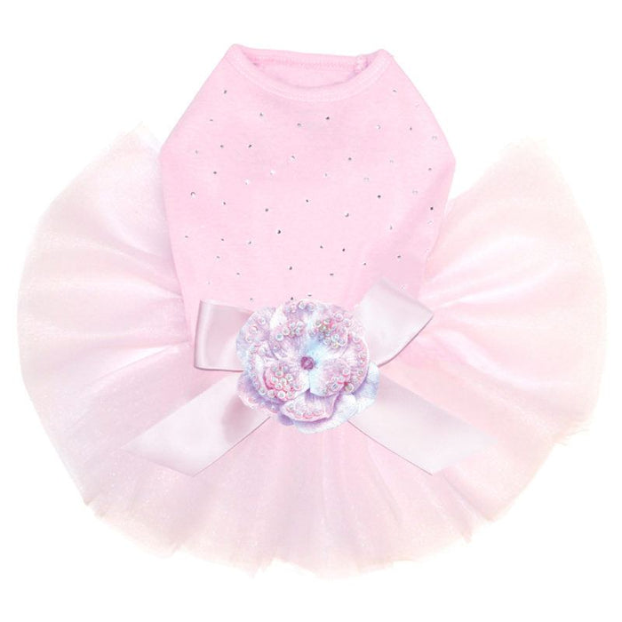 Rhinestone Pink Dog Tutu Cute Dog Dress