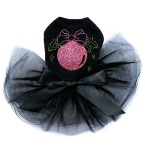 Pink Glitter Ornament - Black Tutu