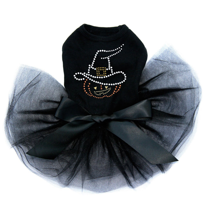 Pumpkin with Witch Hat - Tutu - Black, Pink or Red