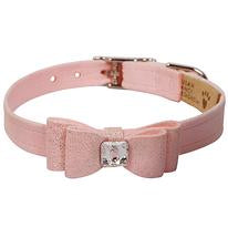 Puppy Pink Glitzerati Big Bow Collar