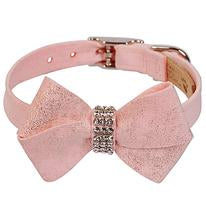 Puppy Pink Glitzerati Nouveau Bow Collar