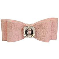 Puppy Pink Glitzerati Big Bow Hair Bow - Single