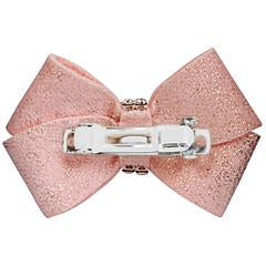 Puppy Pink Glitzerati Nouveau Bow-single