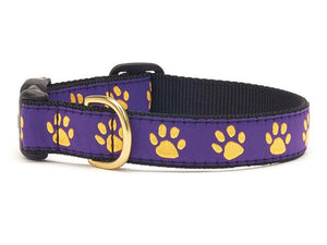 Purple Yello Paw Dog Collar