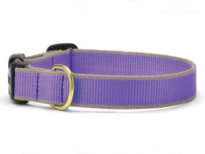 Bamboo purple and Gray Cat Collar