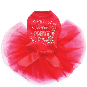 Party Dog Tutu - Red