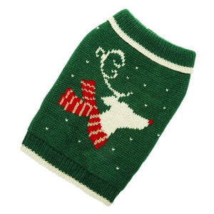 Reindeer Hand Knit Dog Sweater