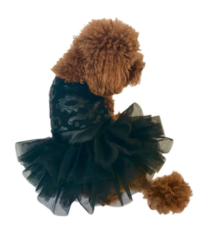Let's Rock! Pleather Dog Tutu Dress