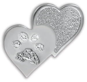 Sterling Silver Heartfelt Paw Print Charm