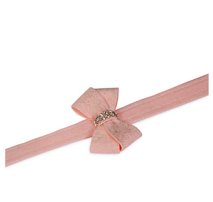 Puppy Pink Glitzerati Nouveau Bow Leash