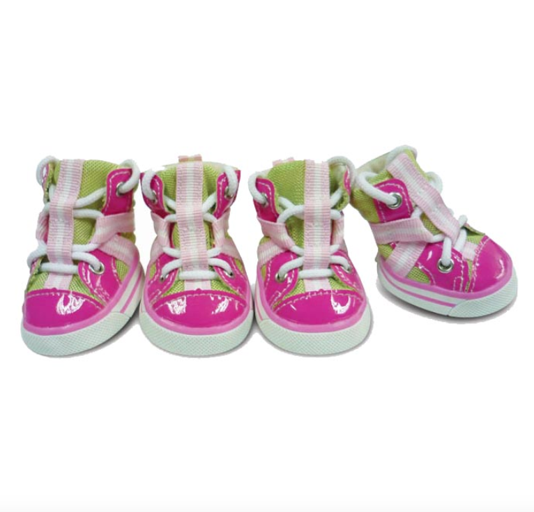 Sporty Dog Sneakers - Poppy Pink