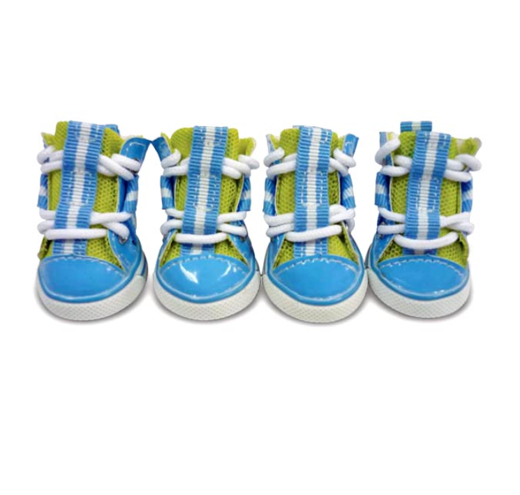 Sporty Dog Sneakers - Aqua Blue
